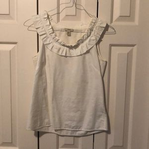 J. Crew white sleeveless top